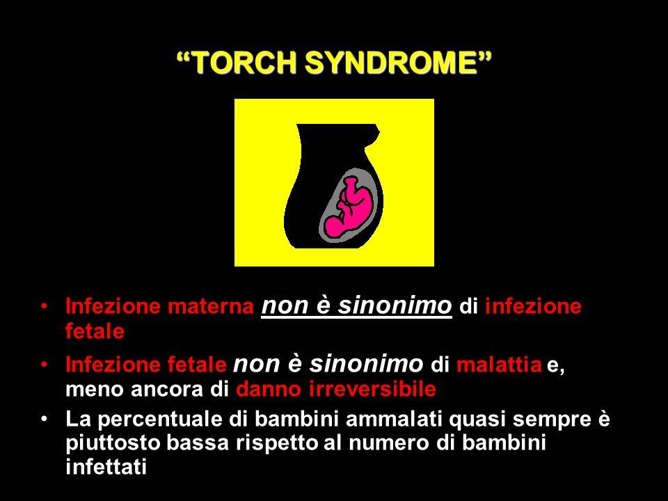 TORCH SYNDROME Infezione materna non è sinonimo di infezione fetale,