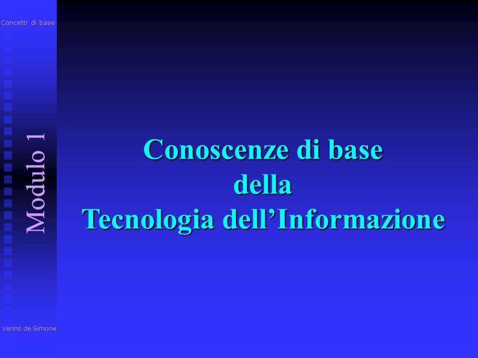 Conoscenze di base della Tecnologia dell'Informazione