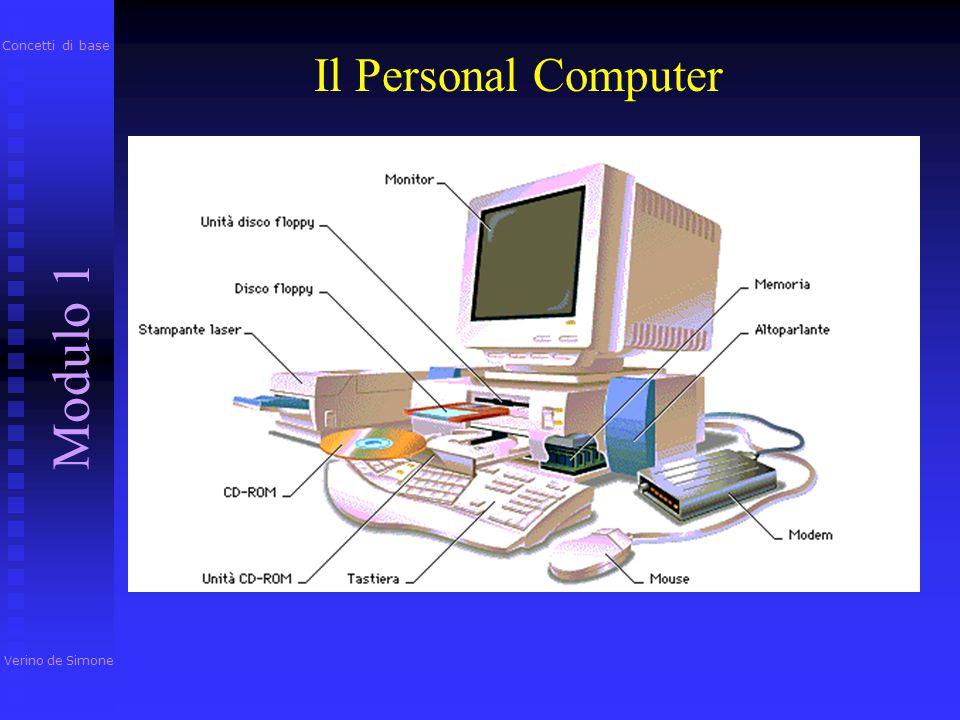 Concetti di base Il Personal Computer Modulo 1 Verino de Simone