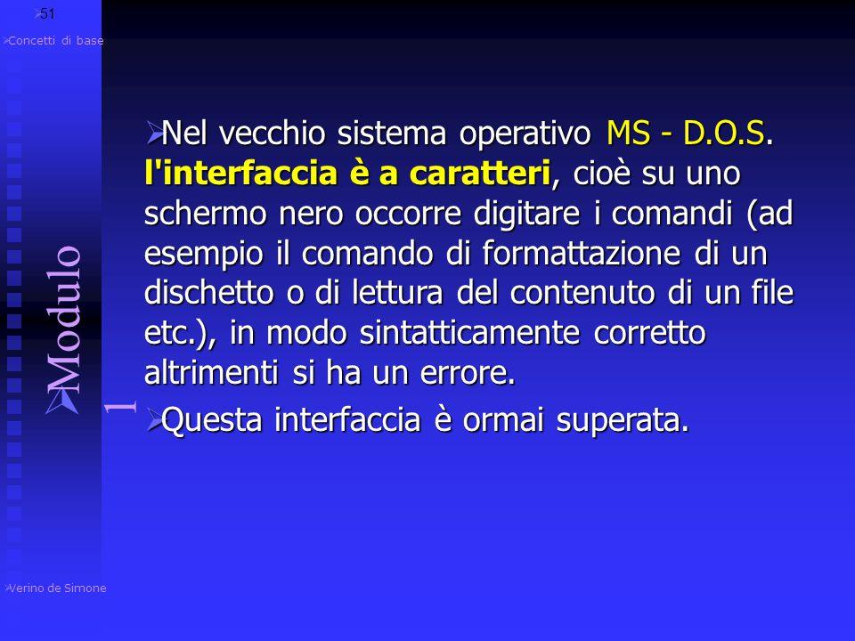 51 Verino de Simone. Modulo 1. Concetti di base.