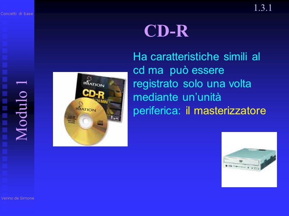 1.3.1 Verino de Simone. Modulo 1. Concetti di base. CD-R.