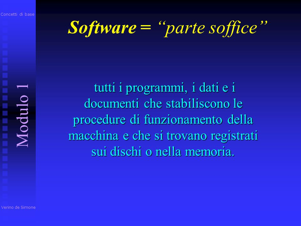 Software = parte soffice