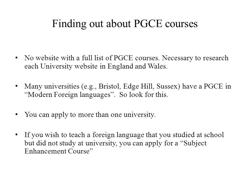Finding out about PGCE courses