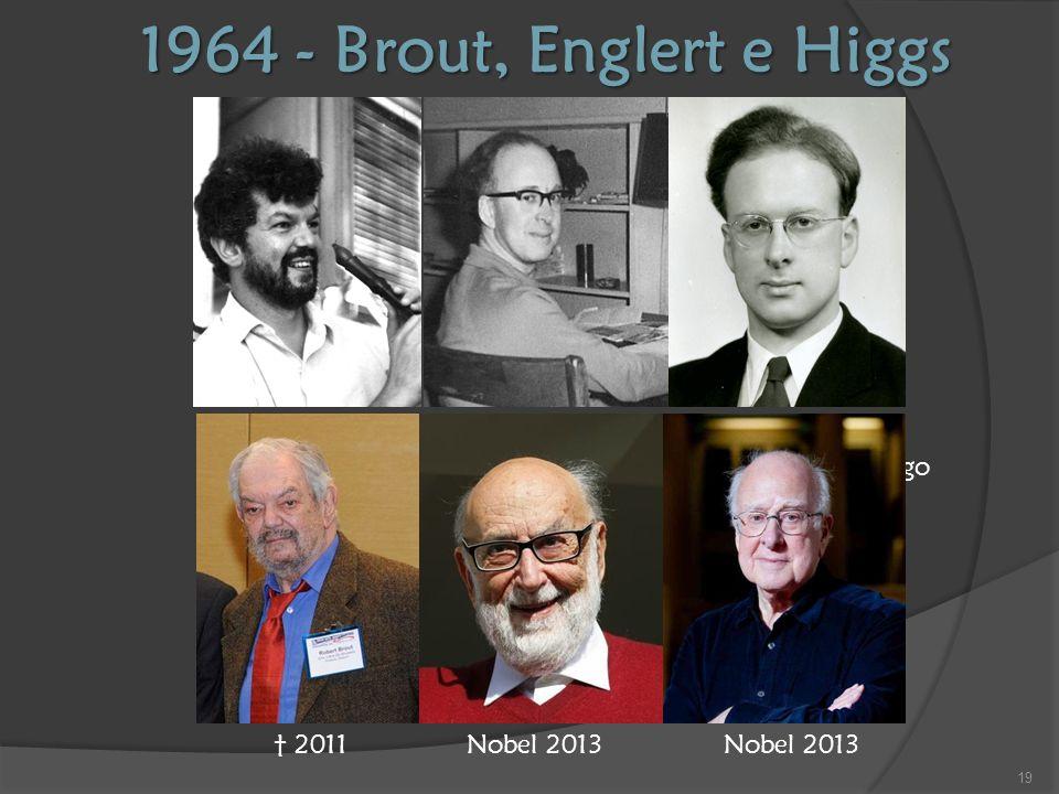 1964 - Brout, Englert e Higgs François Englert Robert Brout