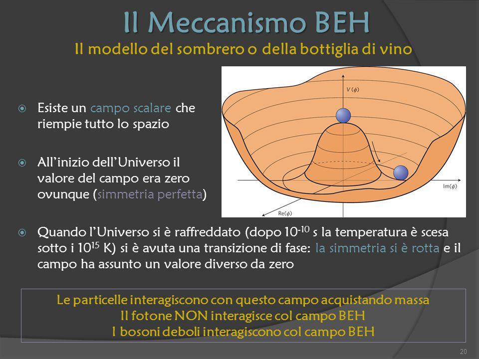 Il Meccanismo BEH Il modello del sombrero o della bottiglia di vino