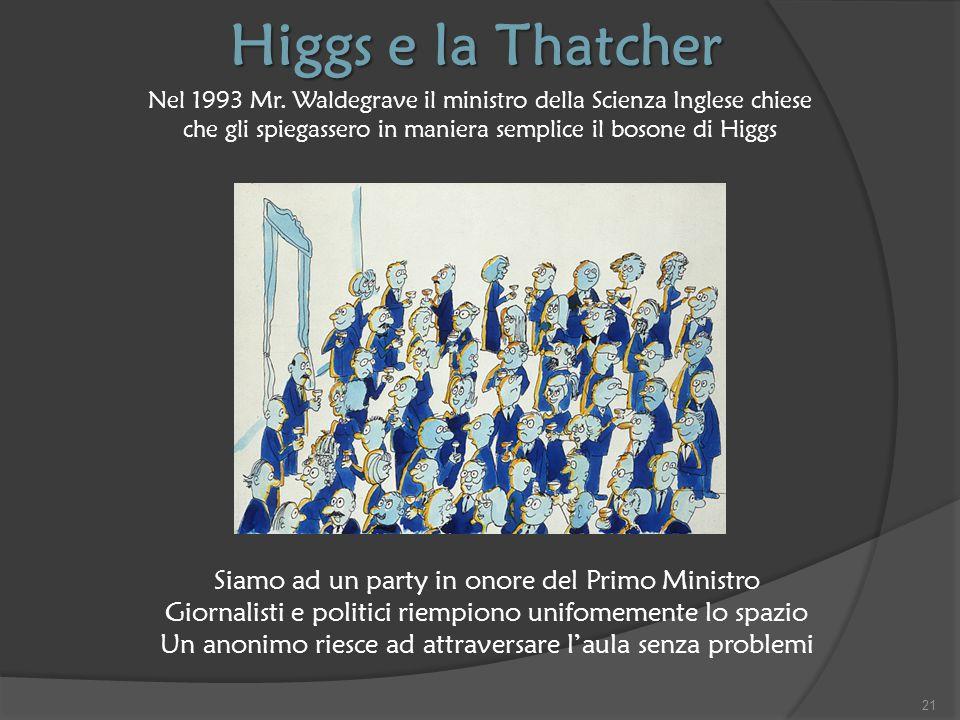 Higgs e la Thatcher Siamo ad un party in onore del Primo Ministro