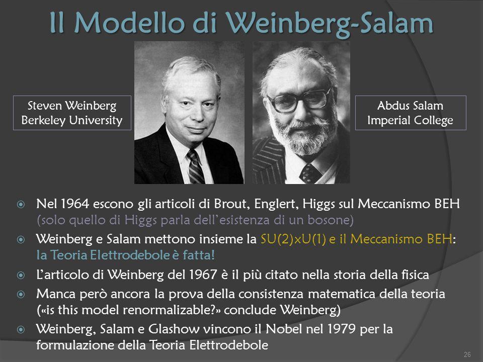 Il Modello di Weinberg-Salam