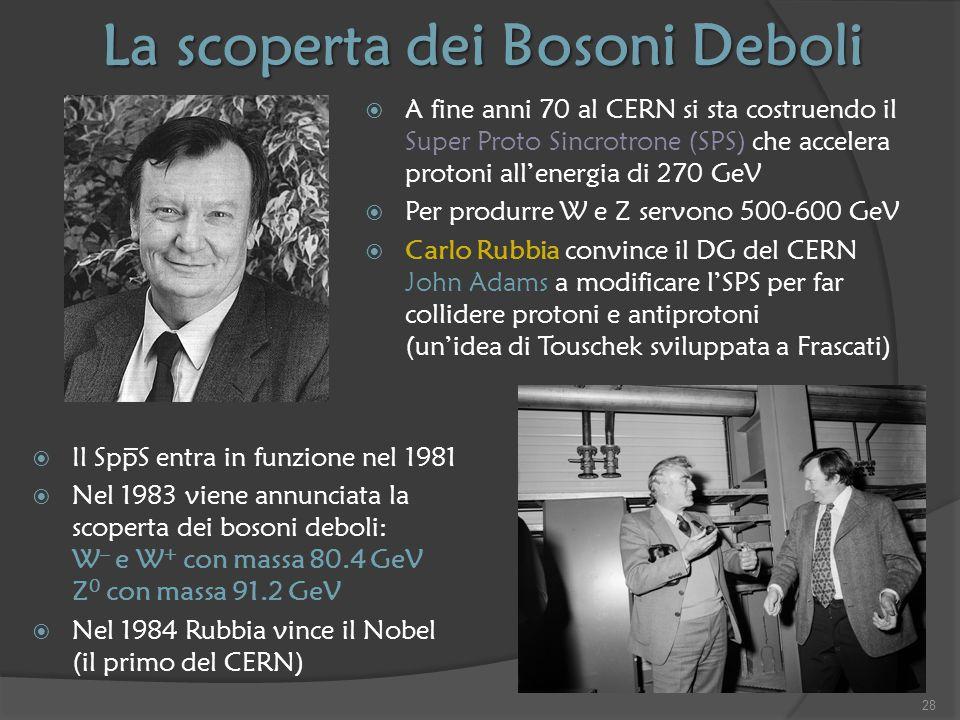 La scoperta dei Bosoni Deboli