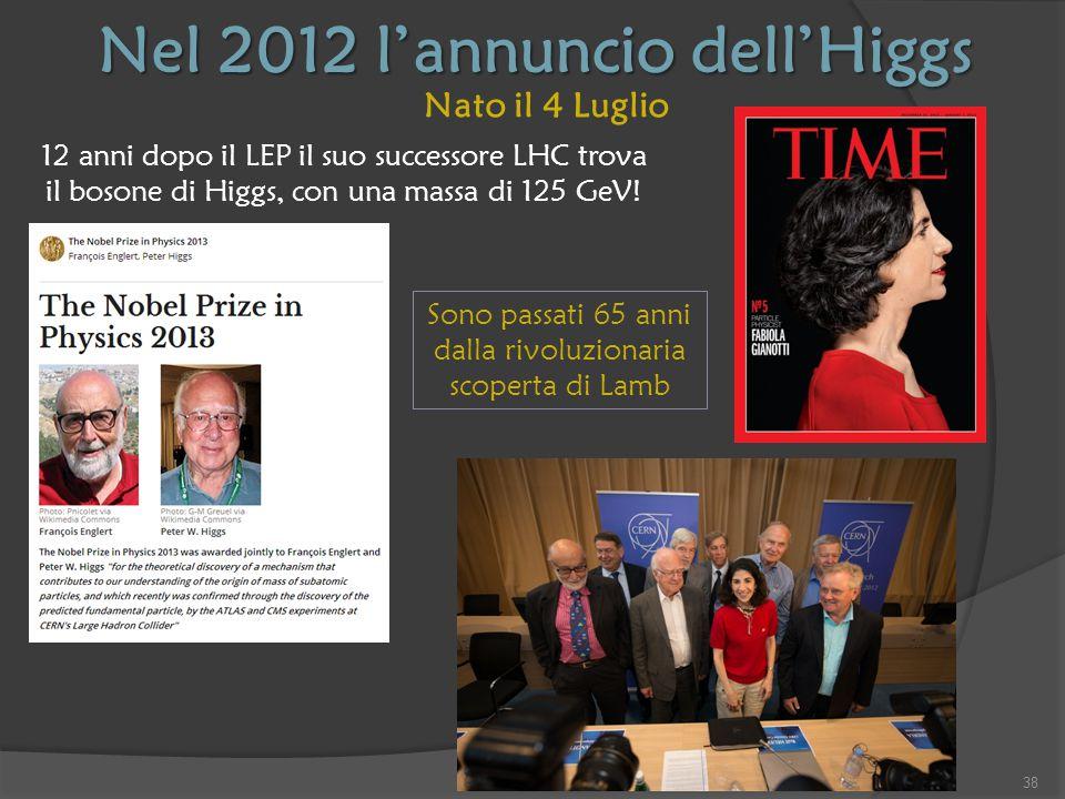 Nel 2012 l'annuncio dell'Higgs