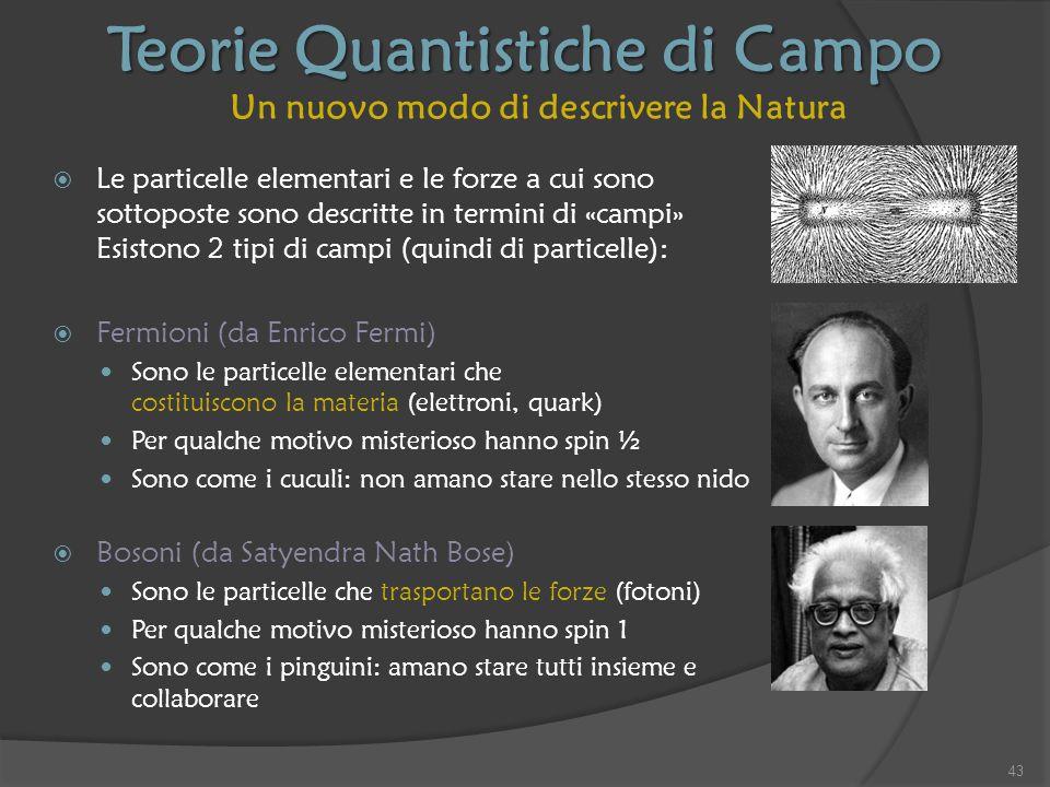 Teorie Quantistiche di Campo