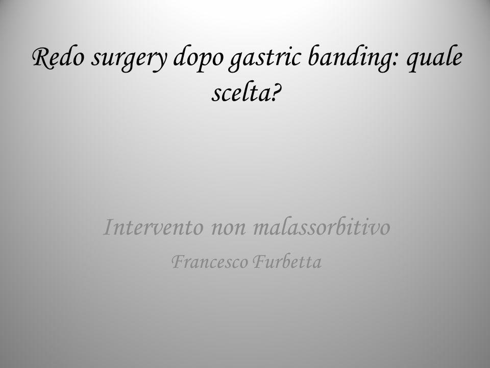 Redo surgery dopo gastric banding: quale scelta