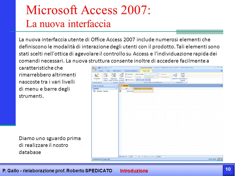 Microsoft Access 2007: La nuova interfaccia