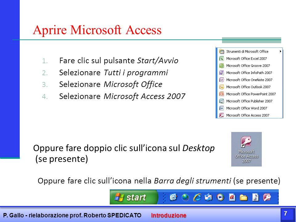 Aprire Microsoft Access
