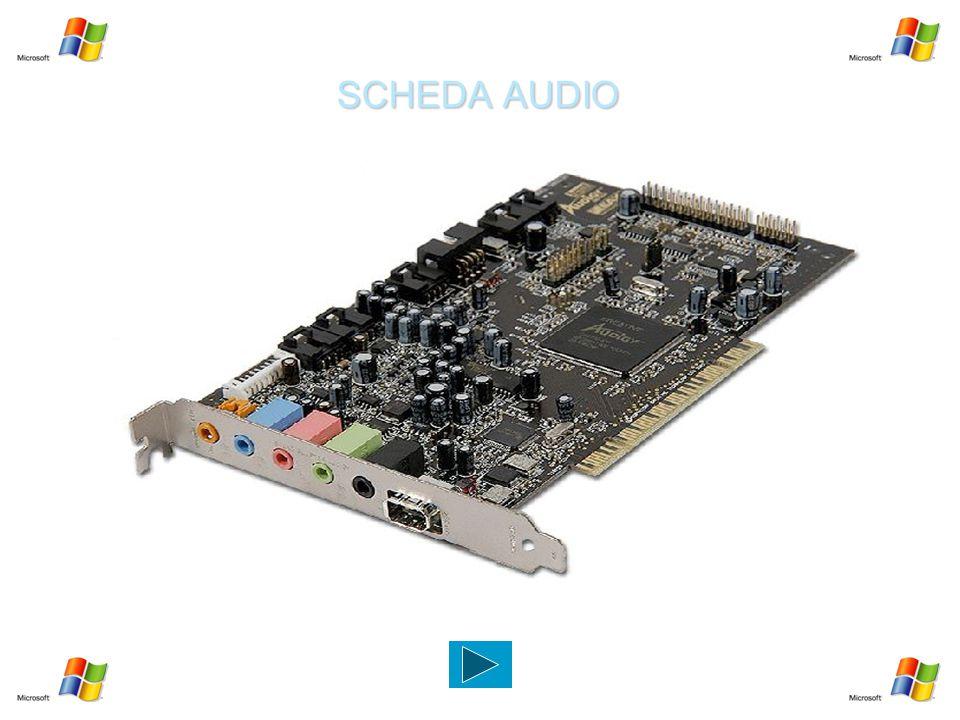 SCHEDA AUDIO Dispositivo elettronico che estende le capacità di base del Pc con funzioni sonore e musicali.