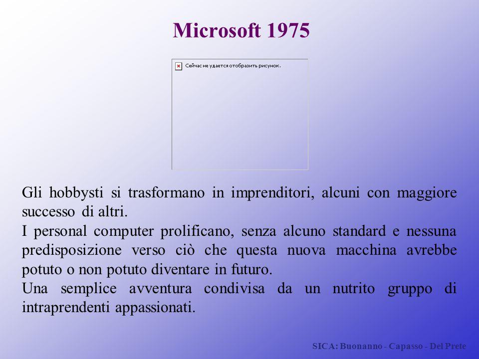 Microsoft 1975 Gli hobbysti si trasformano in imprenditori, alcuni con maggiore successo di altri.