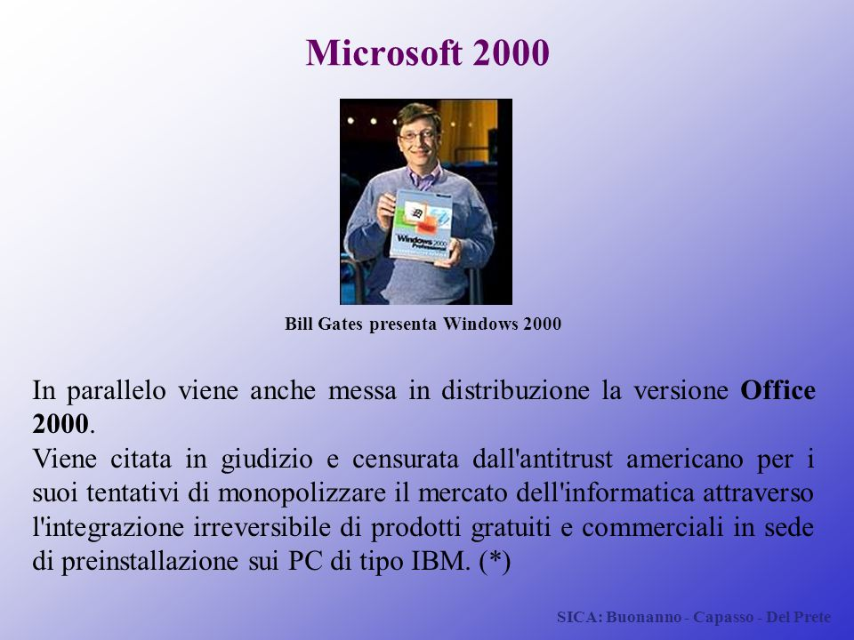 Bill Gates presenta Windows 2000