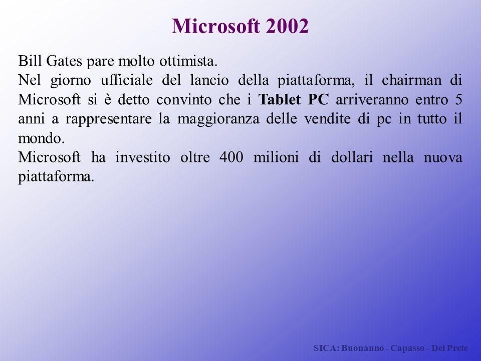 Microsoft 2002 Bill Gates pare molto ottimista.