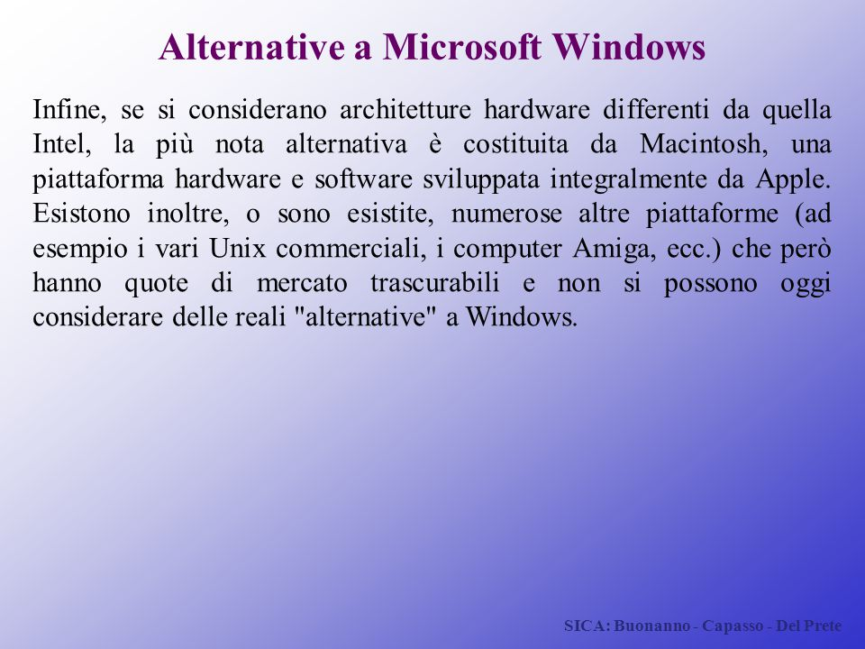 Alternative a Microsoft Windows