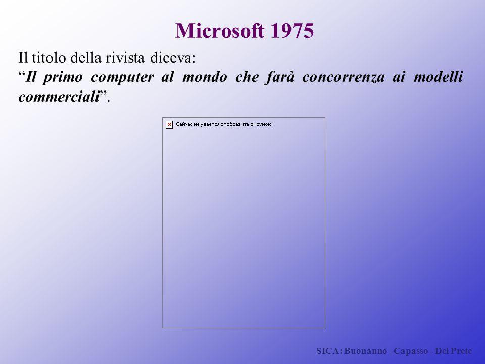 Microsoft 1975 Il titolo della rivista diceva: