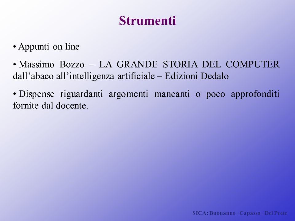 Strumenti Appunti on line