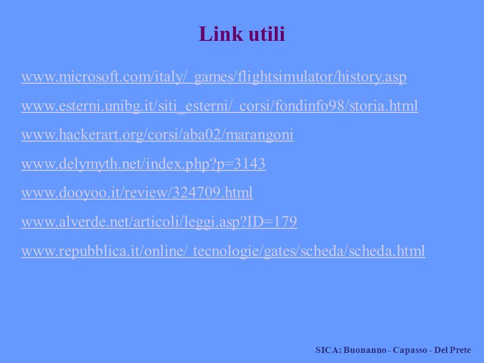 Link utili www.microsoft.com/italy/ games/flightsimulator/history.asp