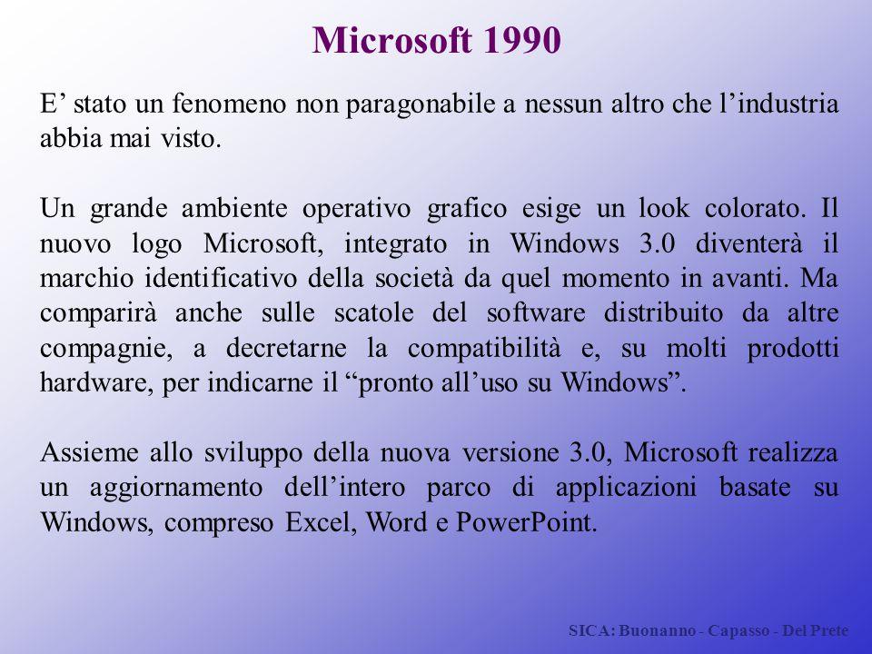 Microsoft 1990 E' stato un fenomeno non paragonabile a nessun altro che l'industria abbia mai visto.