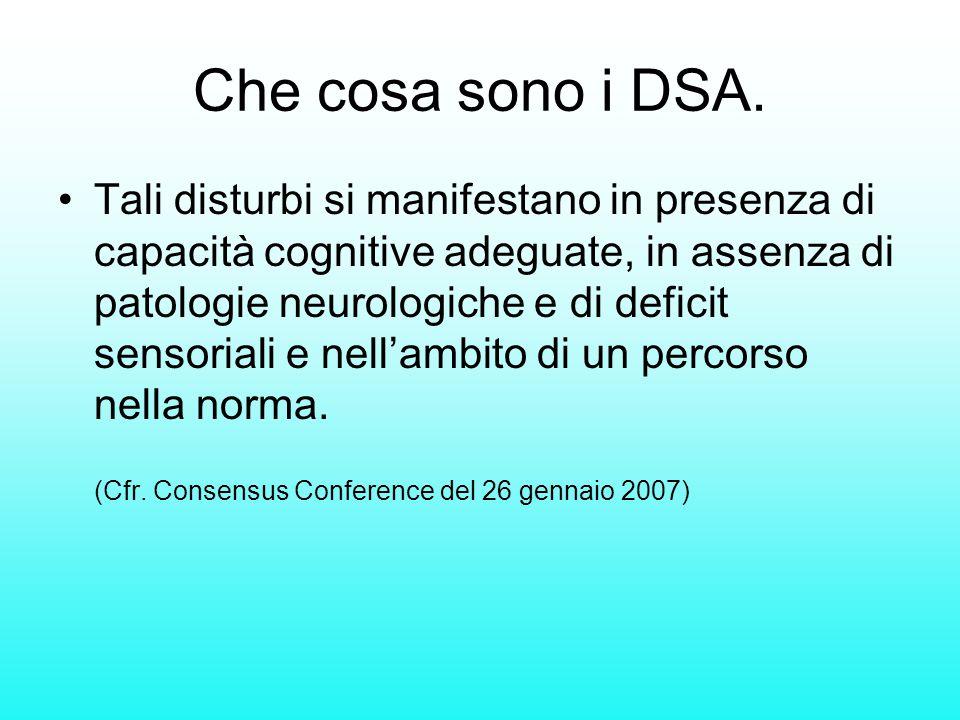 Che cosa sono i DSA.