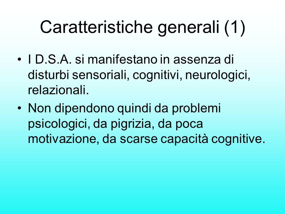 Caratteristiche generali (1)