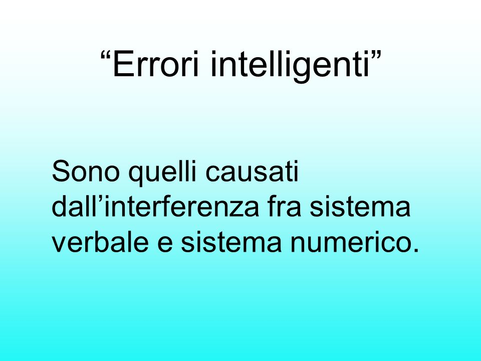 Errori intelligenti
