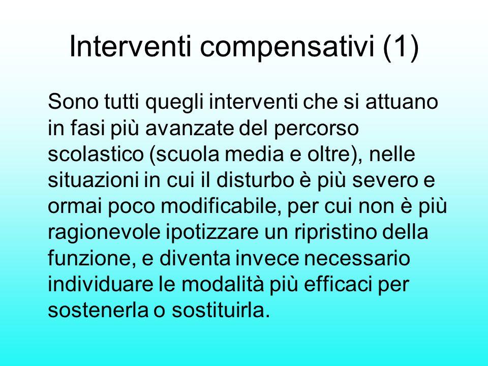 Interventi compensativi (1)