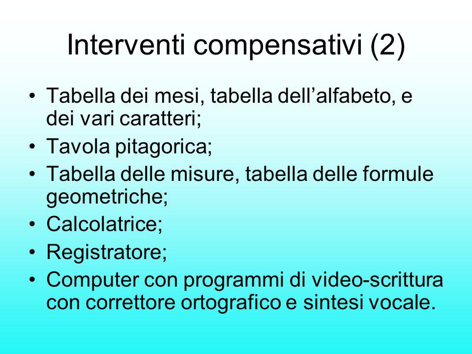 Interventi compensativi (2)