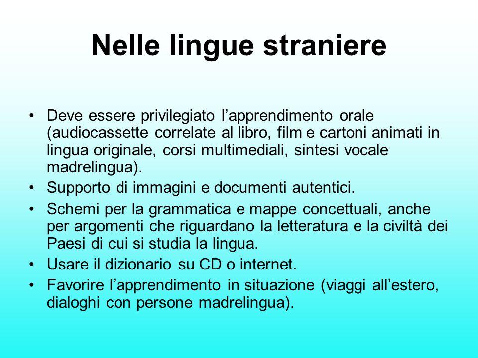 Nelle lingue straniere