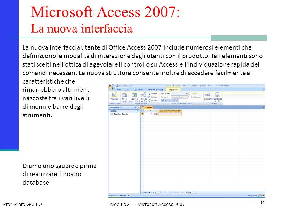 Microsoft Access 2007: La nuova interfaccia
