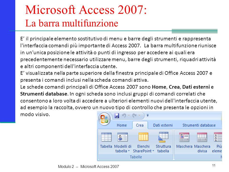 Microsoft Access 2007: La barra multifunzione