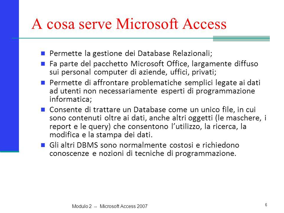 A cosa serve Microsoft Access