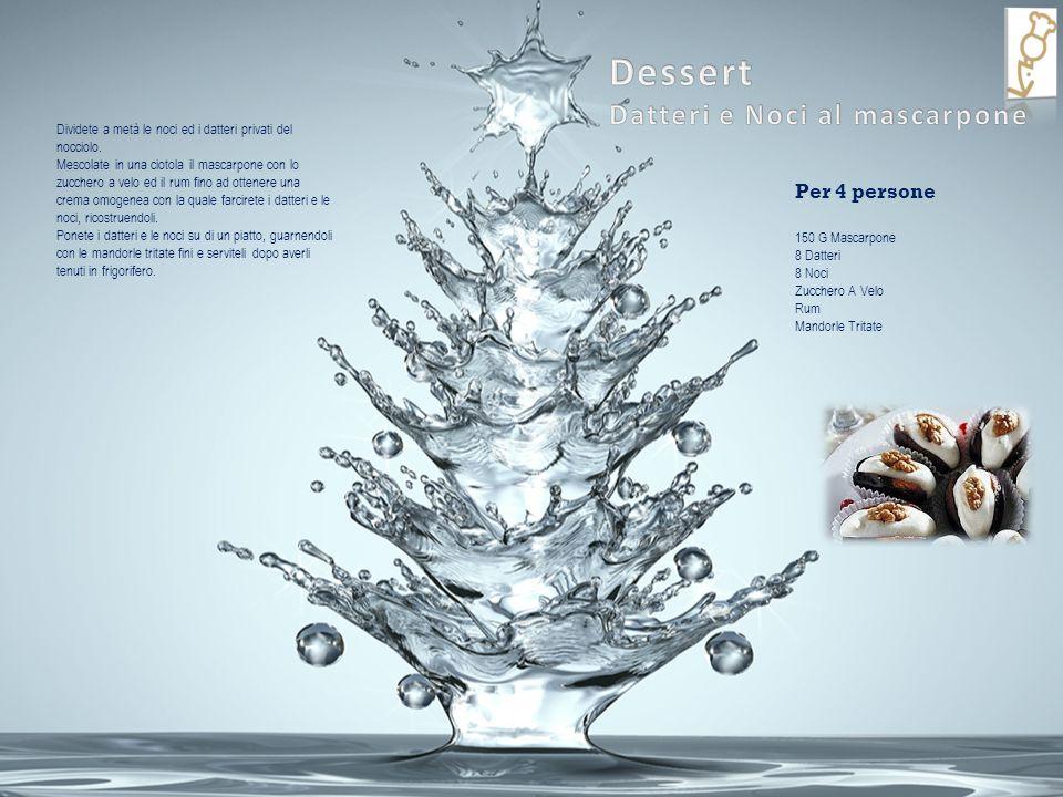 Dessert Datteri e Noci al mascarpone Per 4 persone