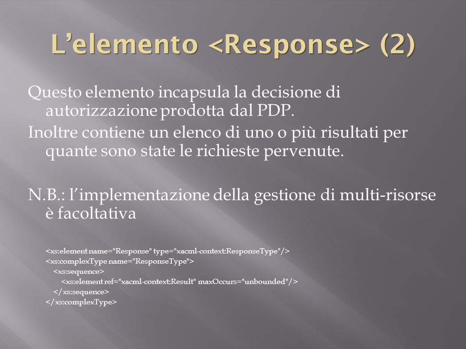 N.B.: l'implementazione della gestione di multi-risorse è facoltativa