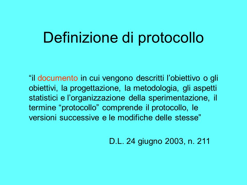 Definizione di protocollo