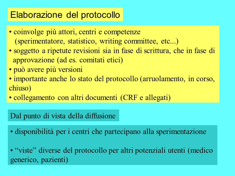 Elaborazione del protocollo