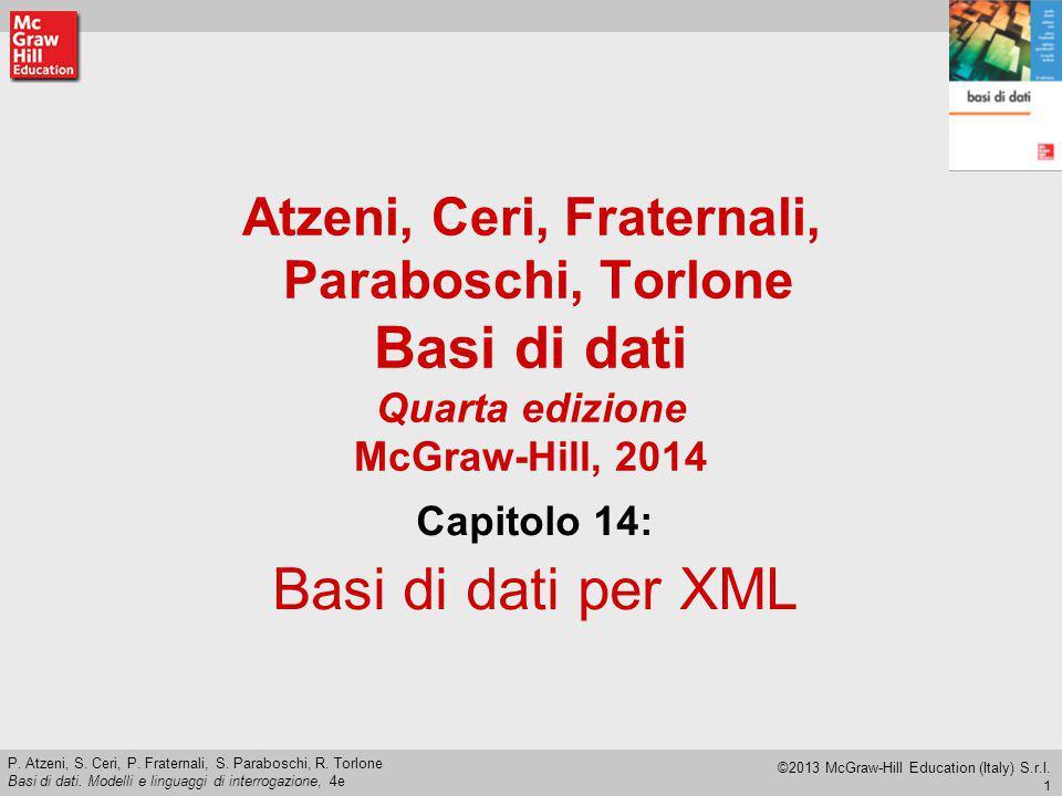 Capitolo 14: Basi di dati per XML