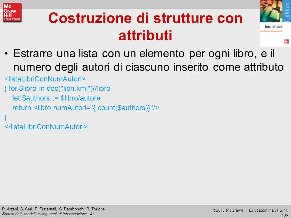Costruzione di strutture con attributi