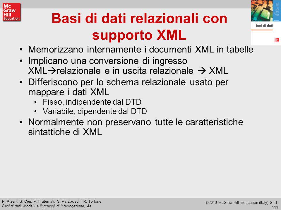 Basi di dati relazionali con supporto XML