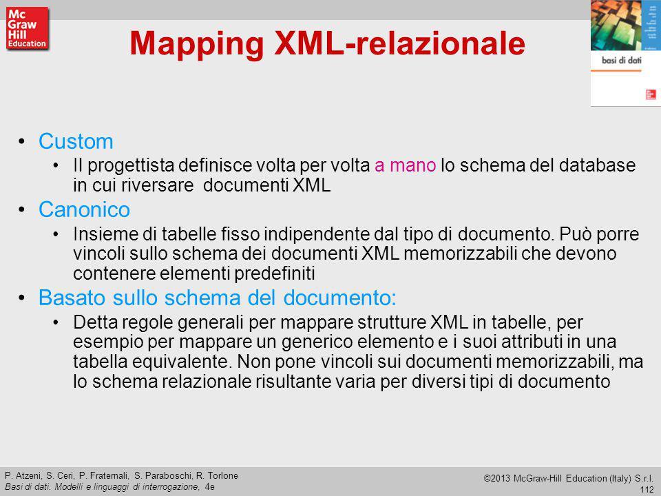 Mapping XML-relazionale