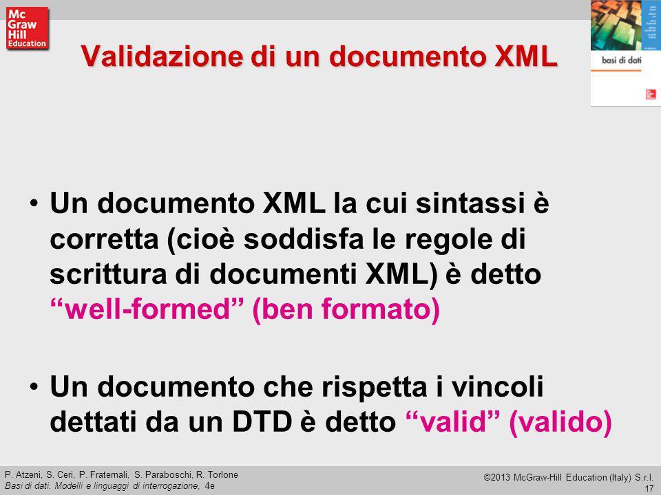 Validazione di un documento XML