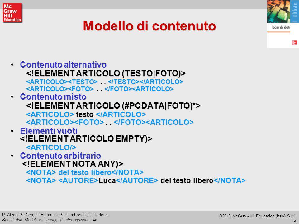 Modello di contenuto Contenuto alternativo