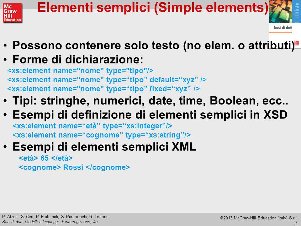 Elementi semplici (Simple elements)