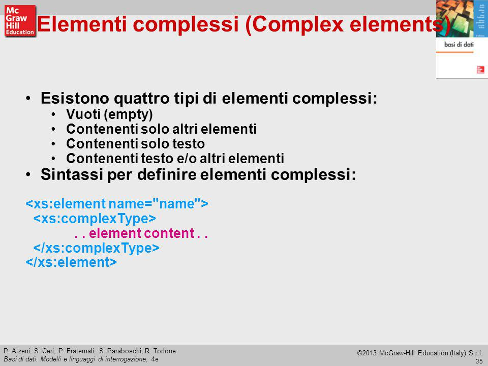 Elementi complessi (Complex elements)