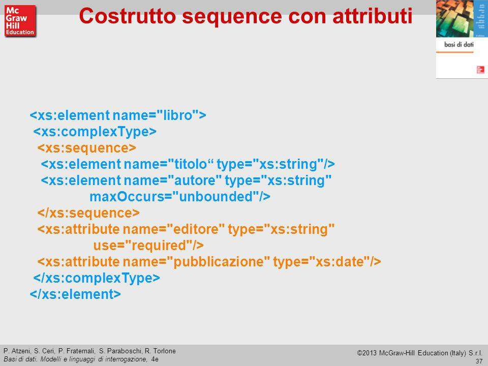 Costrutto sequence con attributi