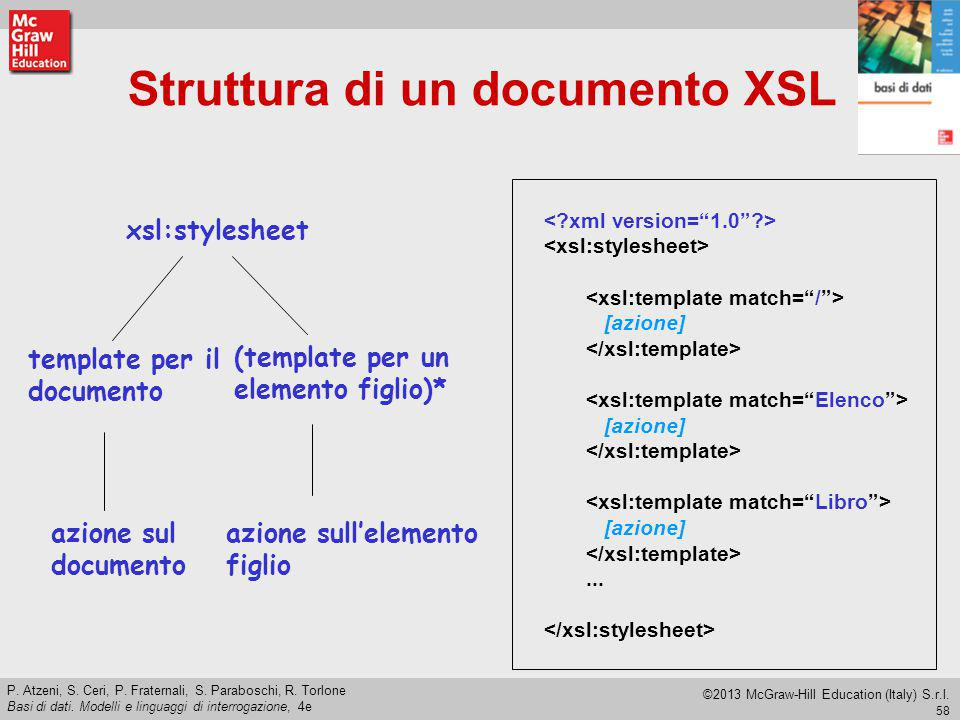 Struttura di un documento XSL