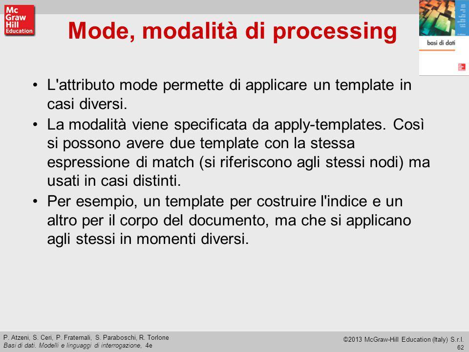 Mode, modalità di processing